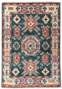 Kazak Tæppe 87X126 Ægte Orientalsk Håndknyttet Blå/Beige (Uld, Afghanistan)