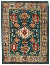 Kazak Tæppe 155X203 Ægte Orientalsk Håndknyttet Mørkegrøn/Mørkeblå (Uld, Afghanistan)