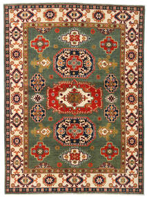 Kazak Tæppe 155X211 Ægte Orientalsk Håndknyttet Mørkegrøn/Rød (Uld, Afghanistan)