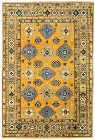 Kazak Tæppe 199X296 Ægte Orientalsk Håndknyttet Orange/Mørkegrå (Uld, Afghanistan)