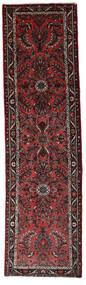 Hamadan Tæppe 77X280 Ægte Orientalsk Håndknyttet Tæppeløber Mørkerød/Mørkebrun (Uld, Persien/Iran)