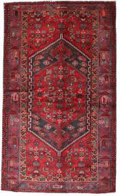 Hamadan Tæppe 135X228 Ægte Orientalsk Håndknyttet Mørkerød/Rød (Uld, Persien/Iran)