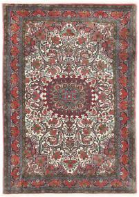 Bidjar Takab/Bukan Tæppe 113X153 Ægte Orientalsk Håndknyttet Mørkegrå/Mørkerød (Uld, Persien/Iran)