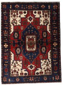 Hamadan Tæppe 110X150 Ægte Orientalsk Håndknyttet Mørkeblå/Mørkerød (Uld, Persien/Iran)