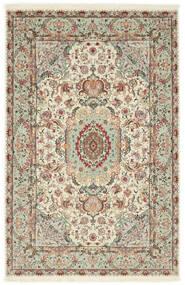 Tabriz 70 Raj Silketrend Tæppe 100X152 Ægte Orientalsk Håndknyttet Lysegrå/Beige (Uld/Silke, Persien/Iran)