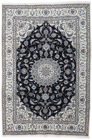 Nain Tæppe 197X290 Ægte Orientalsk Håndknyttet Lysegrå/Mørkegrå (Uld, Persien/Iran)