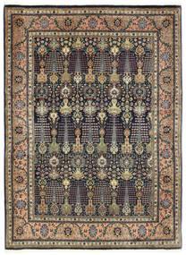 Tabriz 50 Raj Tæppe 150X198 Ægte Orientalsk Håndknyttet Mørkegrå/Mørkeblå (Uld, Persien/Iran)