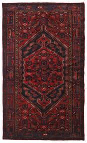 Hamadan Tæppe 134X226 Ægte Orientalsk Håndknyttet Mørkerød (Uld, Persien/Iran)