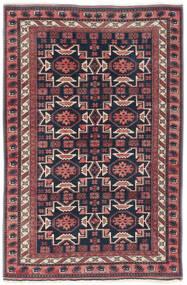 Usak Tæppe 200X300 Ægte Orientalsk Håndknyttet Mørkelilla/Mørkeblå (Uld, Tyrkiet)