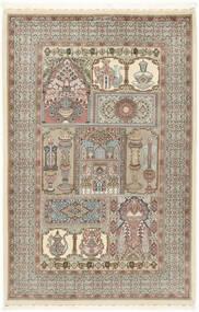 Ilam Sherkat Farsh Silke Tæppe 148X223 Ægte Orientalsk Håndknyttet Lysegrå/Beige (Uld/Silke, Persien/Iran)