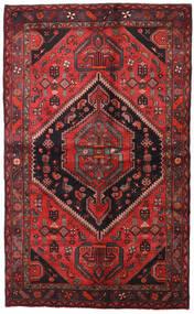 Hamadan Tæppe 138X225 Ægte Orientalsk Håndknyttet Mørkerød/Sort (Uld, Persien/Iran)