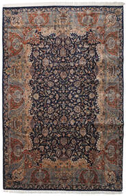 Keshan Indisk Tæppe 237X362 Ægte Orientalsk Håndknyttet Lysegrå/Sort (Uld, Indien)