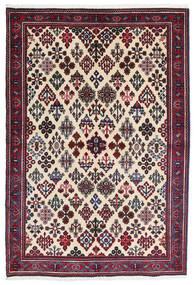 Meimeh Tæppe 110X160 Ægte Orientalsk Håndknyttet Beige/Sort (Uld, Persien/Iran)
