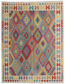 Kelim Afghan Old Style Tæppe 152X198 Ægte Orientalsk Håndvævet Lysebrun/Lysegrå (Uld, Afghanistan)