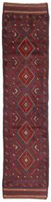 Kelim Golbarjasta Tæppe 63X264 Ægte Orientalsk Håndvævet Tæppeløber Mørkerød/Mørkegrå/Mørkebrun (Uld, Afghanistan)