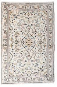 Keshan Tæppe 97X150 Ægte Orientalsk Håndknyttet Lysegrå/Beige (Uld, Persien/Iran)