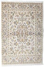 Keshan Tæppe 100X148 Ægte Orientalsk Håndknyttet Lysegrå/Beige (Uld, Persien/Iran)