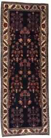 Gabbeh Kashkooli Tæppe 82X223 Ægte Moderne Håndknyttet Tæppeløber Mørkebrun/Mørkerød (Uld, Persien/Iran)