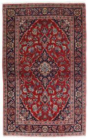 Keshan Tæppe 98X158 Ægte Orientalsk Håndknyttet Mørkerød/Mørkeblå (Uld, Persien/Iran)
