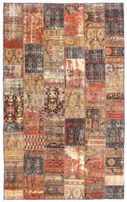 Patchwork - Persien/Iran Tæppe 191X312 Ægte Moderne Håndknyttet Mørkerød/Brun (Uld, Persien/Iran)