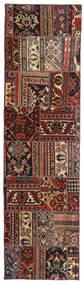 Patchwork - Persien/Iran Tæppe 70X258 Ægte Moderne Håndknyttet Tæppeløber Mørkerød/Sort (Uld, Persien/Iran)