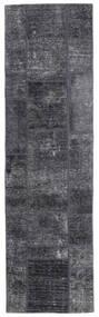 Patchwork - Persien/Iran Tæppe 71X251 Ægte Moderne Håndknyttet Tæppeløber Mørkegrå/Lyslilla (Uld, Persien/Iran)