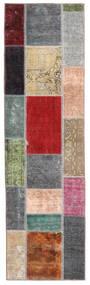 Patchwork - Persien/Iran Tæppe 71X252 Ægte Moderne Håndknyttet Tæppeløber Mørkebrun/Blå (Uld, Persien/Iran)