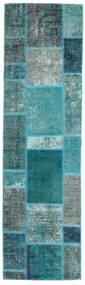 Patchwork - Persien/Iran Tæppe 70X249 Ægte Moderne Håndknyttet Tæppeløber Mørke Turkis/Turkis Blå (Uld, Persien/Iran)