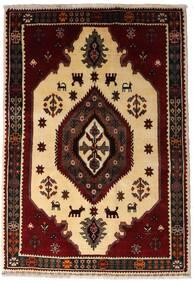 Ghashghai Tæppe 127X183 Ægte Orientalsk Håndknyttet Mørkebrun/Mørk Beige (Uld, Persien/Iran)