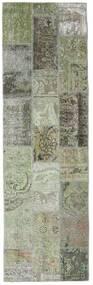 Patchwork - Persien/Iran Tæppe 76X253 Ægte Moderne Håndknyttet Tæppeløber Mørkegrå/Lysegrå (Uld, Persien/Iran)
