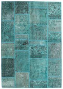 Patchwork - Persien/Iran Tæppe 140X200 Ægte Moderne Håndknyttet Turkis Blå/Turkis Blå (Uld, Persien/Iran)
