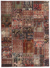 Patchwork - Persien/Iran Tæppe 144X201 Ægte Moderne Håndknyttet Mørkerød/Mørkebrun/Lysebrun (Uld, Persien/Iran)