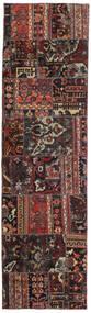 Patchwork - Persien/Iran Tæppe 72X256 Ægte Moderne Håndknyttet Tæppeløber Sort/Mørkerød (Uld, Persien/Iran)