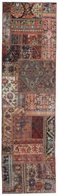 Patchwork - Persien/Iran Tæppe 68X246 Ægte Moderne Håndknyttet Tæppeløber Mørkerød/Mørkebrun (Uld, Persien/Iran)