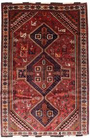 Shiraz Tæppe 166X246 Ægte Orientalsk Håndknyttet Mørkerød/Rust (Uld, Persien/Iran)