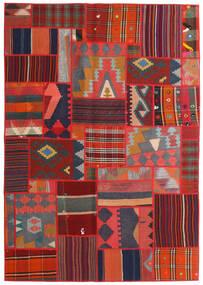 Tekkeh Kelim Tæppe 141X203 Ægte Moderne Håndvævet Mørkegrå/Mørkerød/Rust (Uld, Persien/Iran)