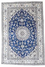 Nain Tæppe 195X290 Ægte Orientalsk Håndknyttet Lysegrå/Hvid/Creme (Uld, Persien/Iran)