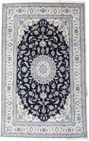 Nain Tæppe 197X313 Ægte Orientalsk Håndknyttet Lysegrå/Sort (Uld, Persien/Iran)