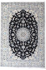 Nain Tæppe 200X297 Ægte Orientalsk Håndknyttet Hvid/Creme/Lysegrå (Uld, Persien/Iran)
