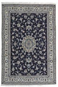 Nain Tæppe 164X242 Ægte Orientalsk Håndknyttet Sort/Lysegrå (Uld, Persien/Iran)