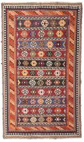 Kelim Vintage Tæppe 162X270 Ægte Orientalsk Håndvævet Mørkerød/Mørkebrun (Uld, Persien/Iran)