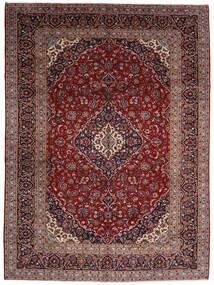 Keshan Tæppe 294X400 Ægte Orientalsk Håndknyttet Mørkerød Stort (Uld, Persien/Iran)