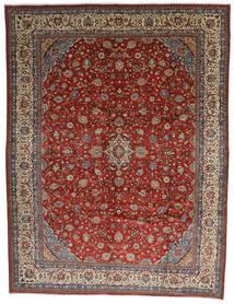 Sarough Tæppe 325X425 Ægte Orientalsk Håndknyttet Mørkebrun/Mørkerød Stort (Uld, Persien/Iran)