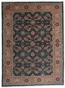 Ardebil Tæppe 295X393 Ægte Orientalsk Håndknyttet Sort/Mørkerød Stort (Uld, Persien/Iran)