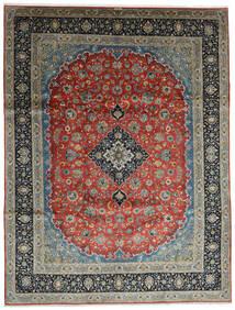 Keshan Tæppe 296X388 Ægte Orientalsk Håndknyttet Mørkegrå/Mørkegrøn Stort (Uld, Persien/Iran)