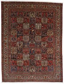 Bakhtiar Tæppe 298X390 Ægte Orientalsk Håndknyttet Mørkebrun/Mørkerød Stort (Uld, Persien/Iran)