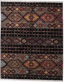 Shabargan Tæppe 156X190 Ægte Moderne Håndknyttet Mørkebrun/Mørkegrå (Uld, Afghanistan)
