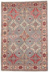 Kazak Tæppe 121X177 Ægte Orientalsk Håndknyttet Lysegrå/Mørkerød (Uld, Afghanistan)