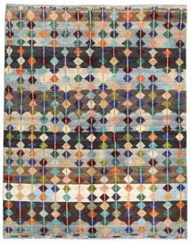 Moroccan Berber - Afghanistan Tæppe 195X220 Ægte Moderne Håndknyttet Lysegrå/Mørkeblå (Uld, Afghanistan)