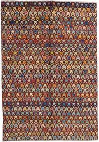 Moroccan Berber - Afghanistan Tæppe 171X249 Ægte Moderne Håndknyttet Mørkebrun/Lysebrun (Uld, Afghanistan)